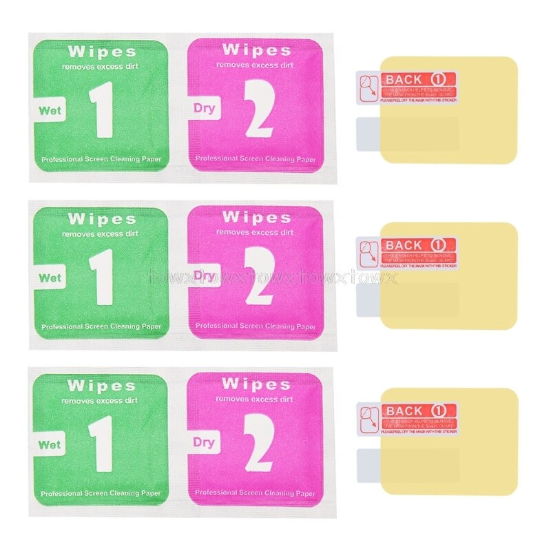 3 unids/lote pantalla Protector película para Xiaomi Huami Amazfit Bip ritmo Lite jóvenes S11 19 Dropship