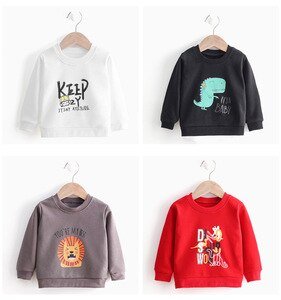 Children's Sweatshirt Long Sleeves Hoodies For Girls  Sweater Kids T-shirt  Boys Cothes Cotton Autumn Outwear