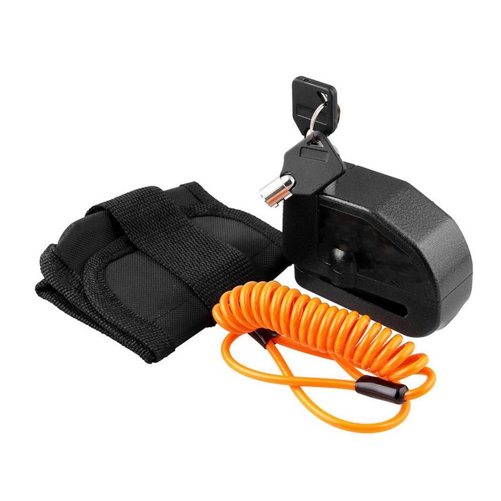 Bloqueo antirrobo a prueba de agua alto decibelio alarma de bloqueo para moto bicicleta coche eléctrico Disco Universal Bloqueo de freno Bloqueo de alarma