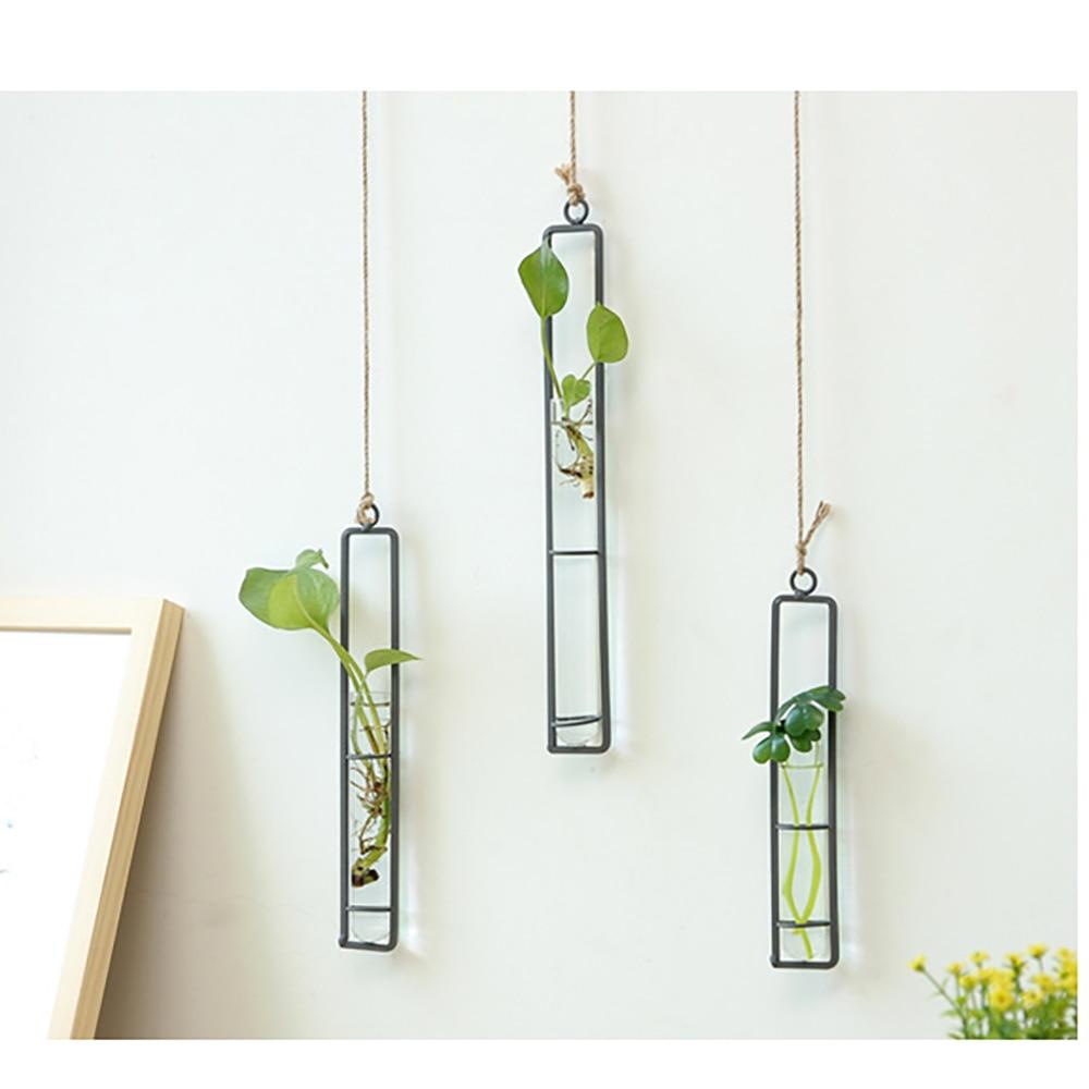 Wiszący wazon hydroponiczny wiszące na ścianę sadzarka do kwiatów szklana rurka Decor diy do przydomowego ogrodu kwiat roślina dekoracji wnętrz