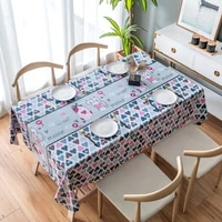 pvc table cloth rectangular table cover waterproof oil proof tablecloth party dining lattice cartoon pattern coffee table mat