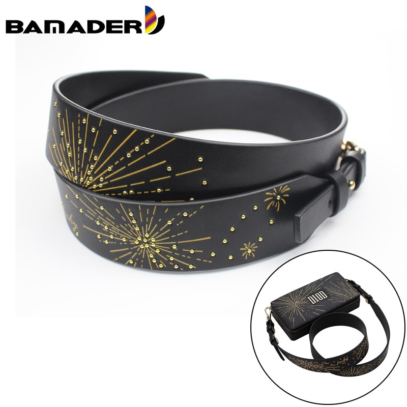 BAMADER Firework Shoulder Strap With Lucky Letters Fashion Women Bag Strap Handbag Accessories Women's Bag Replacement Strap