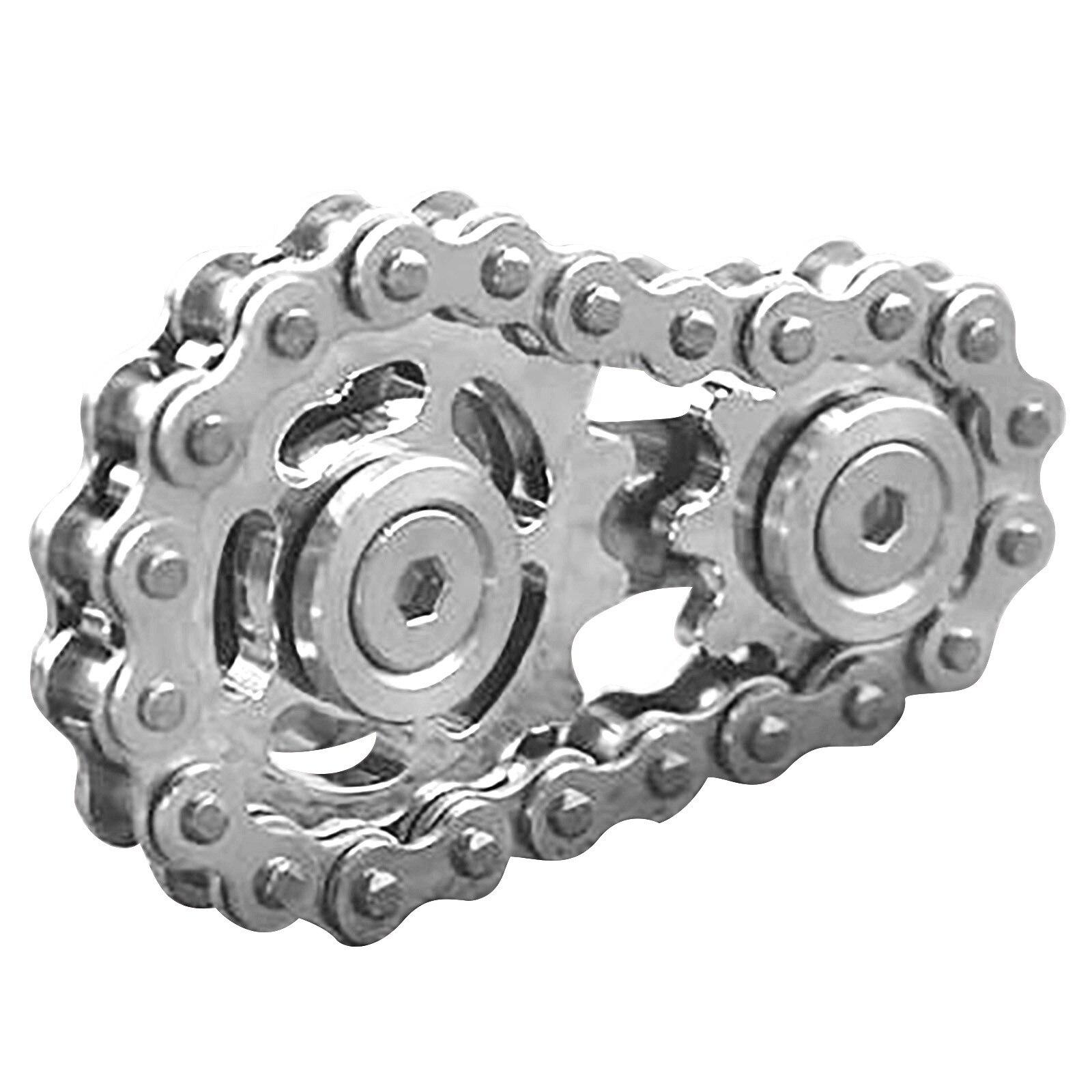 Fingertip gyro Sprocket Flywheel Fingertip Toy Educational Decompression Metal Toys Gear Drop Ship Sproket Roadbike Spinner 5* enlarge