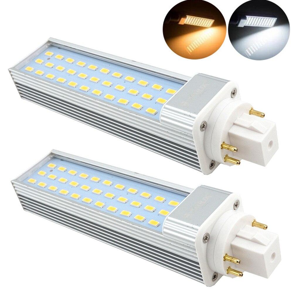 Pack de 2 13W GX24 giratorio lámpara LED PLC G24Q/GX24Q 4-pin Base 26W CFL /Reemplazo de lámpara fluorescente compacta Remove/balasto de Bypass