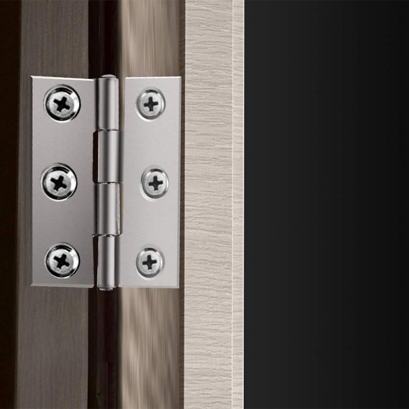 20 قطعة موصل الباب 6 تصاعد ثقوب نافذة خزانة مفصلات من الفولاذ المقاوم للصدأ
