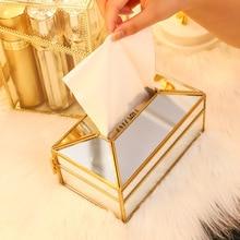 Miroir en verre Transparent pratique   Pratique, boîte à mouchoirs porte-serviettes en papier, décoration pour coiffeuse