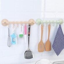 Support sous vide mural ventouse 6 crochets serviette salle de bain support de cuisine ventouse cintre armoire placard cintre cadre Holde support #25
