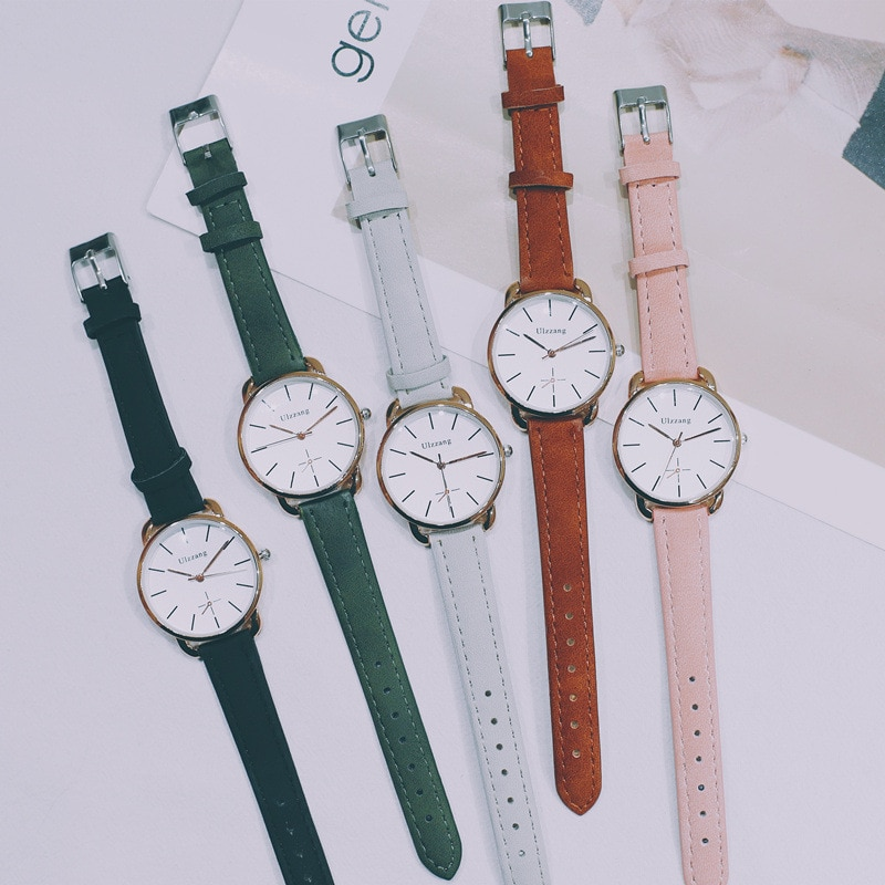 Fashion style watch female student Korean version of simple casual atmosphere retro art small fresh trend Female college student enlarge