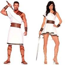 Antigo egito traje adulto feminino homens carnaval festa de halloween fantasia vestido roupas roman solider cosplay outfit