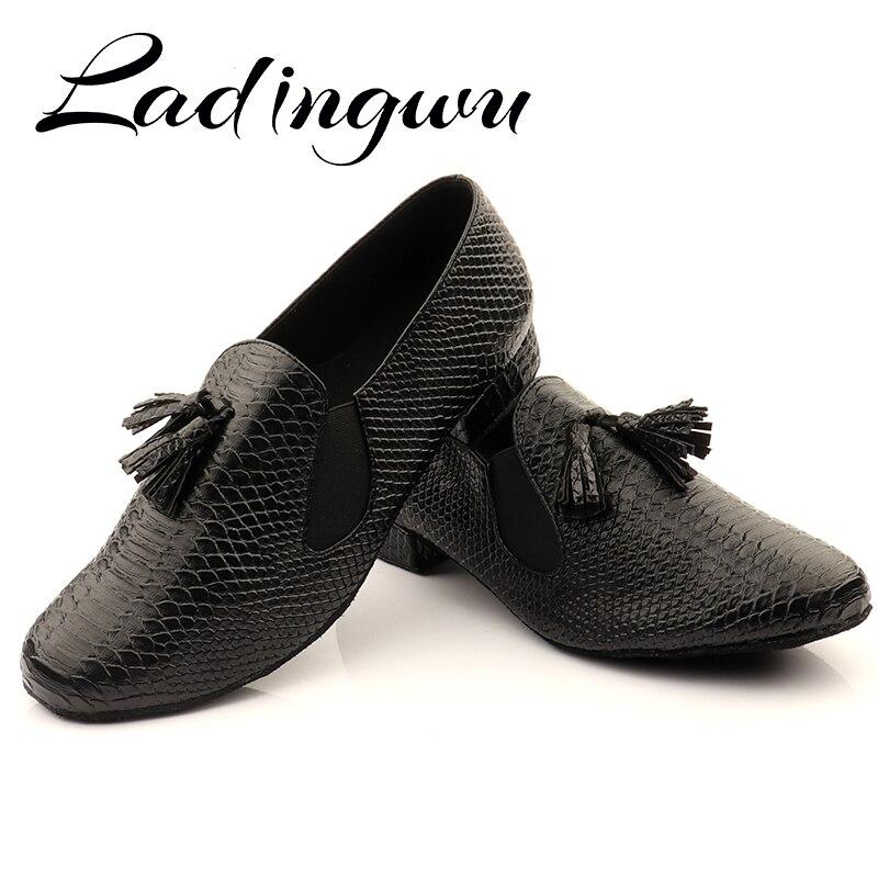 Фото - Туфли Ladingwu мужские для бальных танцев, мягкая подошва, Крокодиловая текстура, ПУ кожа, Крокодиловая Кожа, современные туфли для латиноамери... туфли redwood f10896amacu523 кожа рыжий