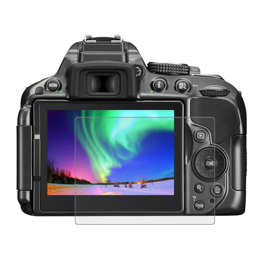 HD claro Anti-burbuja película Ultra-claro Anti-scratch 9H de cristal templado de cine Protector de pantalla para Nikon D5300/D5500/D5600