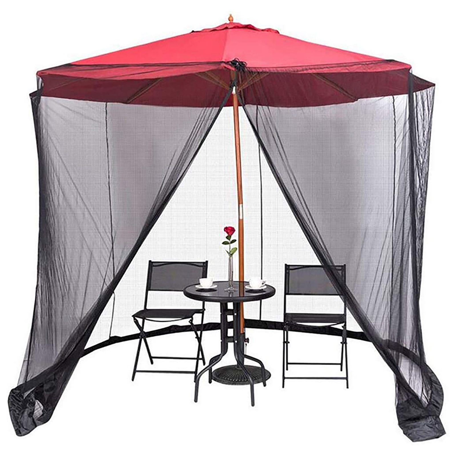 في الهواء الطلق فناء حديقة ظلة مظلة واقية من الحشرات غطاء غبار مظلة للأماكن المفتوحة على شكل غطاء شبكة التهوية