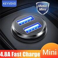 Автомобильное зарядное устройство с 2 USB-портами и поддержкой быстрой зарядки мобильный телефон А, в ассортименте