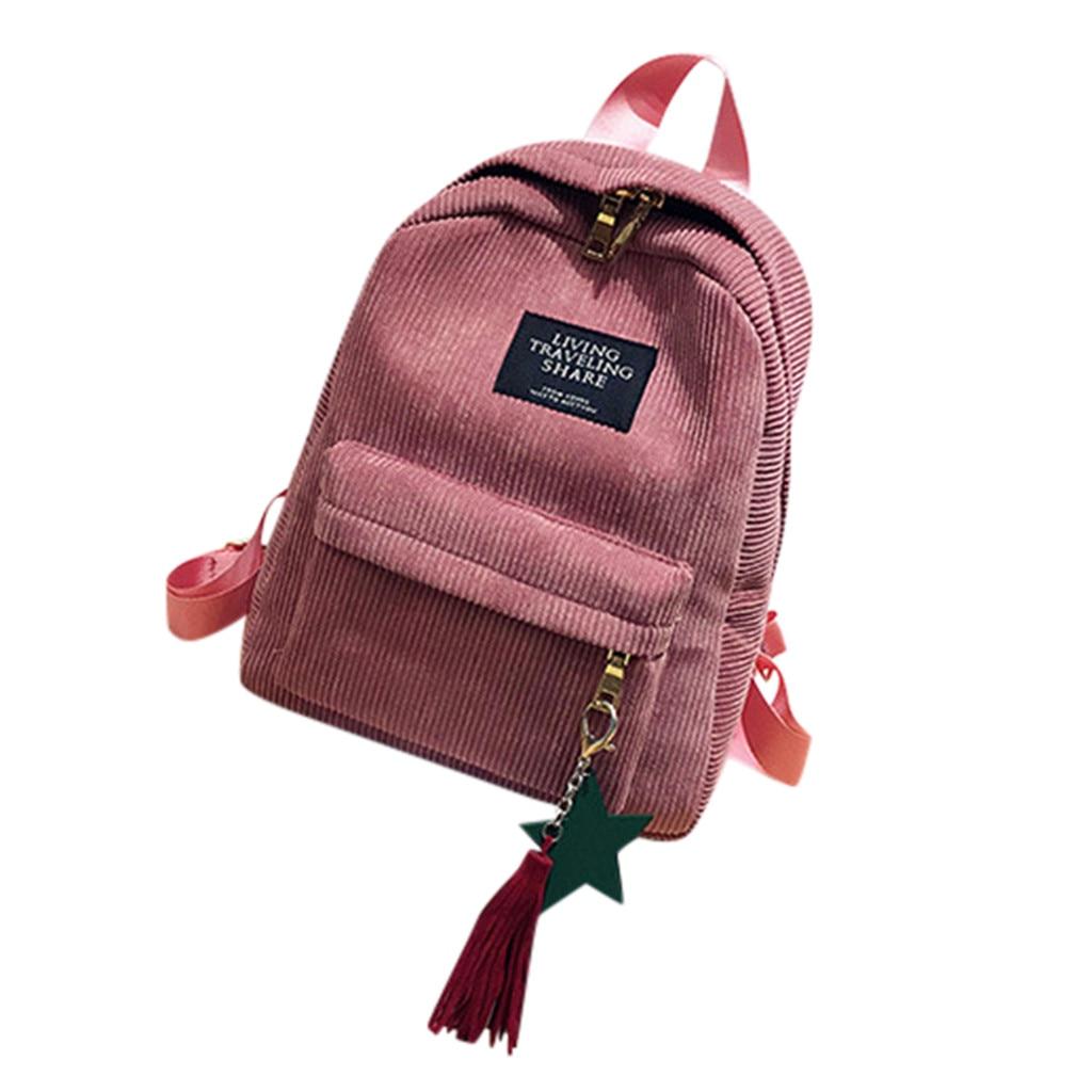 Aelicy, Mini mochilas de pana Simple para mujer, estilo universitario, Color puro, mochilas de ocio, mochilas para la escuela, adolescentes, niñas