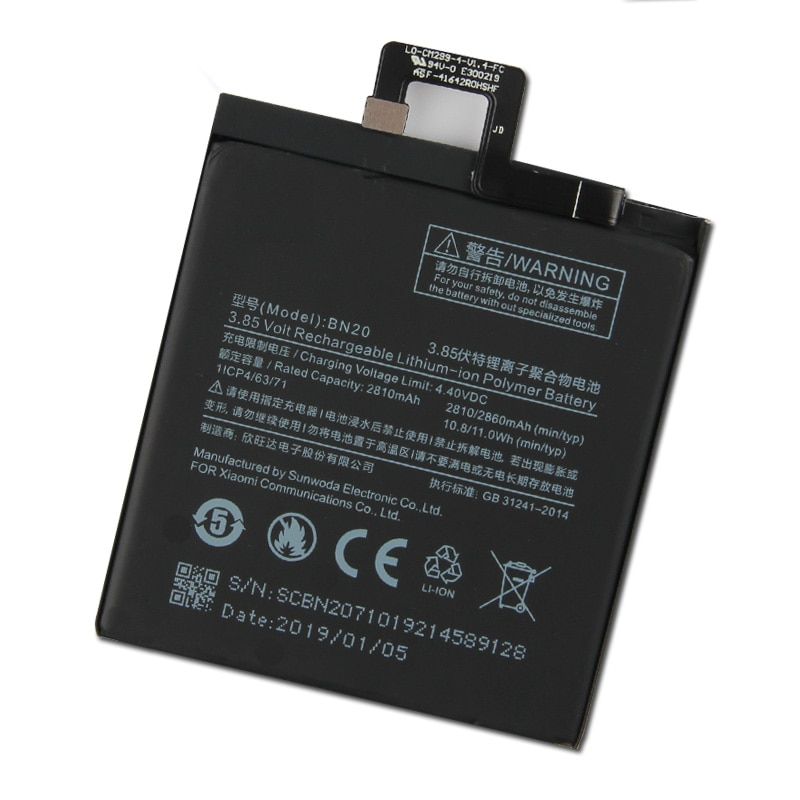 Xiao Mi Original Replacement Phone Battery BN20 For Xiaomi 5C M5C BN20 Authentic Rechargeable Battery 2860mAh enlarge