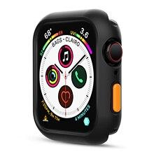 Coque antichoc PC pour Apple Watch 6 SE 5 4 3 2 1, Film protecteur 40MM/44MM, pour protection décran IWatch 38MM/42MM