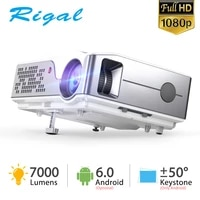 Rigal     projecteur portable RD826 Full HD natif 1920x1080 px  7000 lumens  Android 6 0  home cinema