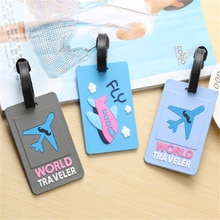Fashion Map Luggage Tag Women Travel Accessories Silica Gel Suitcase ID Address Holder Baggage Board
