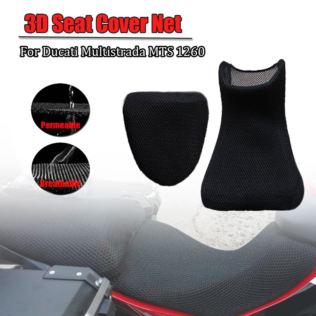 For DUCATI Multistrada MTS 1260 MTS1260 Rear Seat Cowl Cover 3D Mesh Net Waterproof Sunproof Protector Motorcycle Accessories