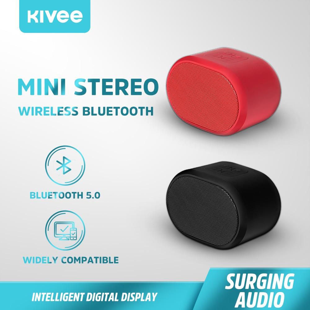 Mini altavoz inalámbrico KIVEE con Bluetooth, soporte estéreo envolvente, FM, TF, USB AUX, portátil al aire libre para iPhone, Xiaomi, Sony