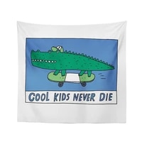 krokodil wandteppich h%c3%a4ngen cartoon k%c3%bchlen kinder nie sterben wandteppiche blau vorhang geschenk hintergrund wand tuch abdeckun
