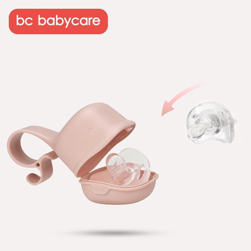 BC Babycare chupete portátil para bebé caja para tetina a prueba de polvo lindo chupete de viaje en forma de tiburón cajas de almacenamiento para Snack PP seguro funda, soporte