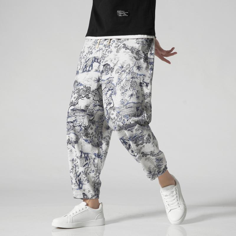 Casual Streetwear Pant Men 2020 Autumn Hip Hop Fitness Military Printed Ankle-Length Trousers Men Fashion Joggers Harem Pants