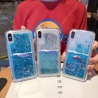 dynamic water liquid phone case for iphone xs max x xr iphone 7 8 6 6s plus iphone 11 pro max stars glitter soft tpu cover case