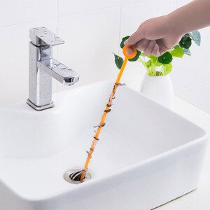 1PC Kitchen Sink Cleaning Hook Sewer Dredging Spring Pipe Hair Dredging Tool Removal Sink Cleaning Tool With 47.5CM
