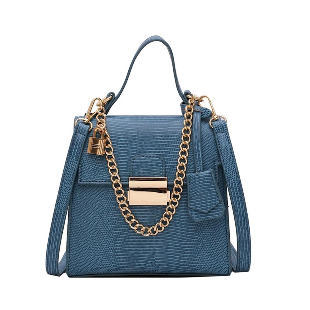 small shoulder bag for women messenger bags ladies  PU leather handbag purse with lock female crossbody bag #15