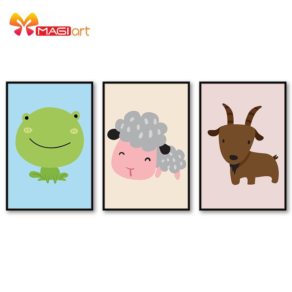Kits de punto de cruz bordado juegos de costura 11CT lienzo pintado al agua patrones 14CT dibujos animados estilo animales cutie-NCMC051