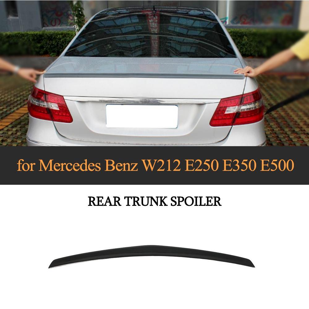 Car Rear Spoiler Wing for Mercedes Benz W212 E550 E350 2010-2013 Trunk Spoiler PU Gloss Black / Matte Gray