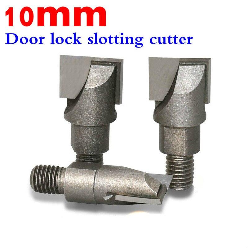 10mm vástago de tungsteno hilo Mills CNC Router de limpieza inferior poco carpintería herramientas de corte de fresado de la cerradura de puerta ranurado de corte