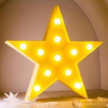 3D LED Night Light Star Moon Kids Bedroom Indoor Lighting Decor Lamp for Home Living Room Bedroom Ni
