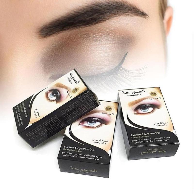 Profesional impermeable pestañas tinte en crema para cejas tinte Gel cejas máscara crema Kit gran oferta