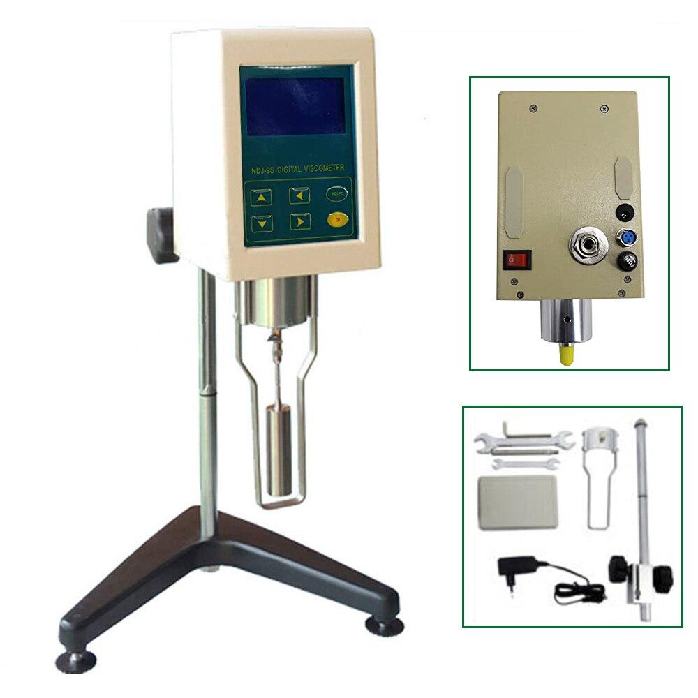 Viscosímetro Digital rotacional, medidor probador de fluidimetro de viscosidad NDJ-9S con pantalla de temperatura, rango de 10 a 1x100000 mPa · s
