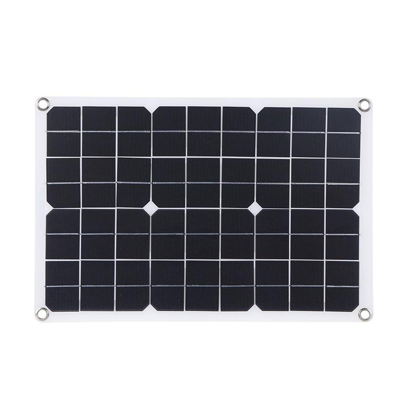 23 واط 18 فولت/5 فولت مرنة لوحة طاقة شمسية ل 12 فولت بطارية السيارة المزدوج USB + DC5521 الناتج شاحن بالطاقة الشمسية للخارجية