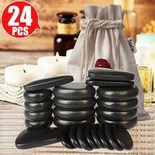 Tontin Hot stone masaje Body Basalt Stone set salón de belleza SPA con bolsa de calentamiento de lona gruesa cuidado de la salud alivio del dolor de espalda