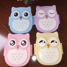 1PC  Cartoon Owl Lunch Box Food Container Storage Portable Kids Bento Box