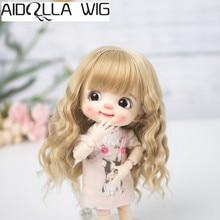 Aidolla 1/8 BJD & Kurhn nouvelle poupée perruque fibre souple né bébé Bob cheveux pour poupée de 14-15cm de diamètre