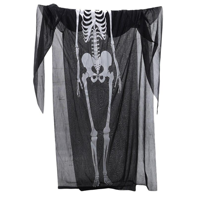 Disfraz de Halloween, disfraz de adulto de la muerte, capa con capucha de caballero, disfraz largo negro de demonio de miedo para juego de rol Cosplay