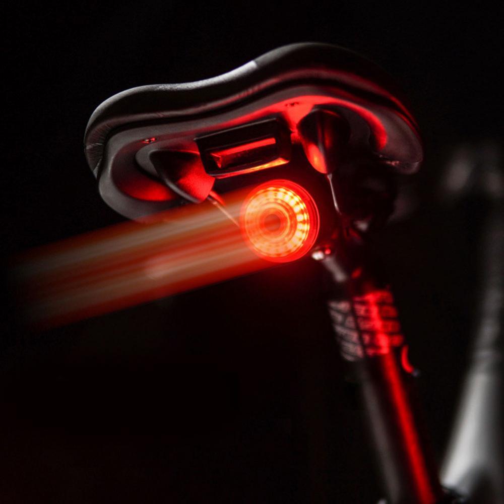 Luz trasera para bicicleta, luz de advertencia con carga Usb, sensor de...