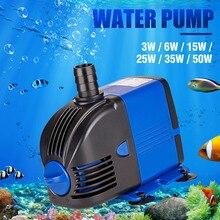 Pompe à eau Submersible daquarium 3/6/15/25/35/50W   Réservoir de poissons, Powerhead fontaine hydroponique, pompes à eau Ultra silencieuses,