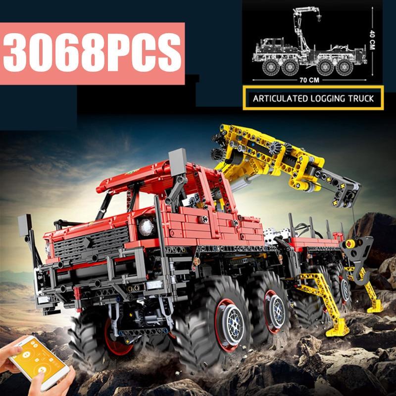 2020 nueva técnica 8x8 Off-road camión de Control remoto modelo MOC-15805 bloques de construcción juguete para regalo MOULD KING 13146 cumpleaños