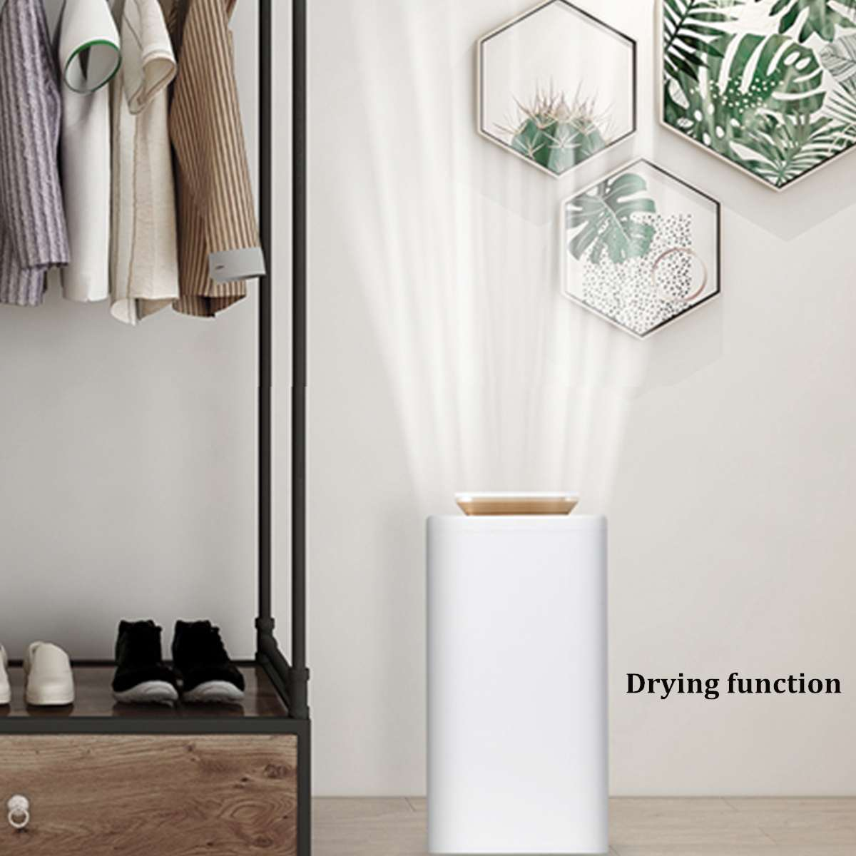 2.7L Household Smart Electric Air Dehumidifier Air Purifier Bedroom Basement Moisture Absorber Air Dryer with LED Display 220V