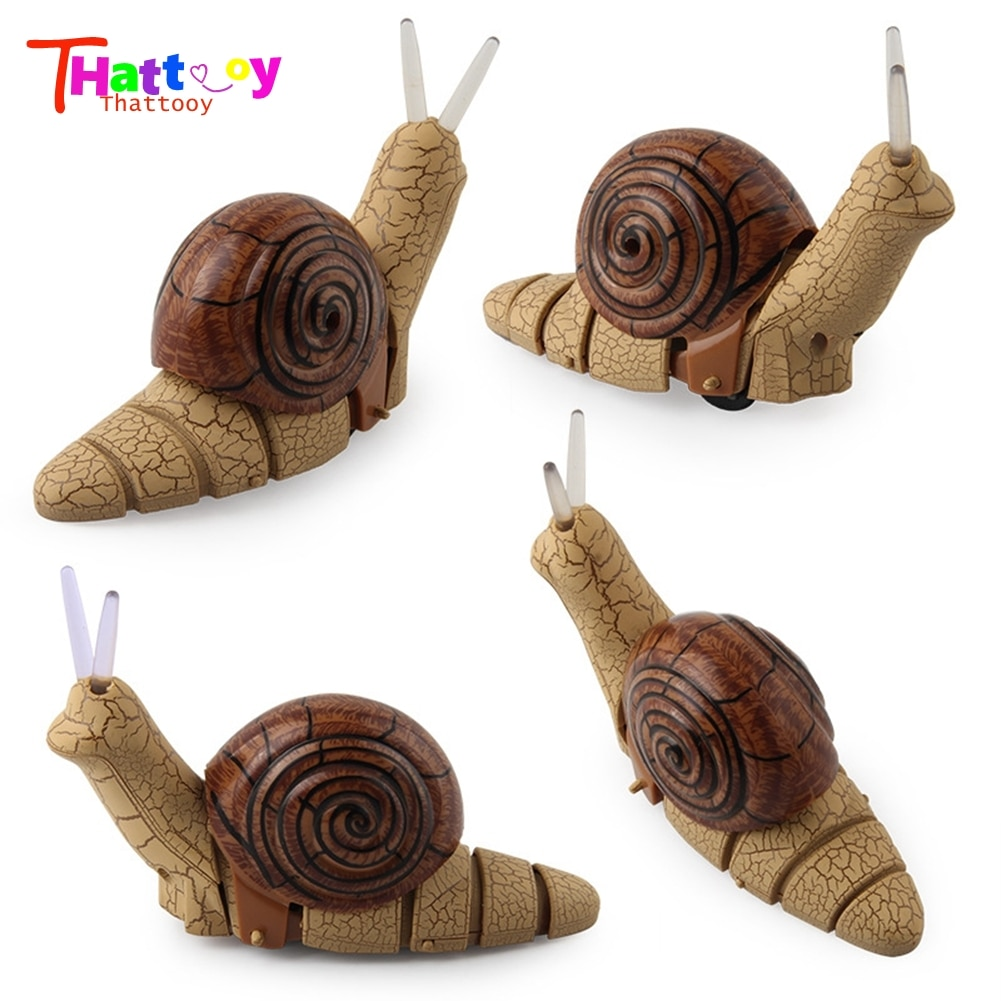 Kid Gift Infrared Remote Control Snail Animal Model RC Toy Children Prank Prop Intelligence Develop Toys For Child enlarge