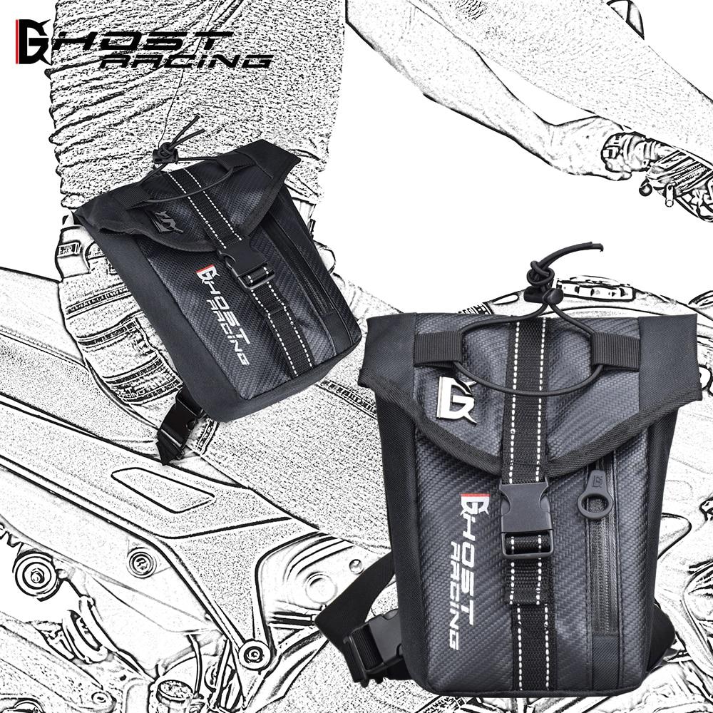 GHOST RACING Waterproof Waist Bags Motorcycle Belt Bag Oxford Leg Bag Drop Moto Travel Baggage Motorbike Pocket Motorbike Bag