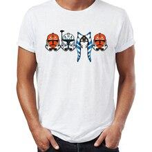 힙합 남자 티셔츠 스타 워즈 아소카 타노 및 스톰 트루퍼 은하계 Badass Street Guys 탑 & 티즈 스와그 100% Cotton Camiseta