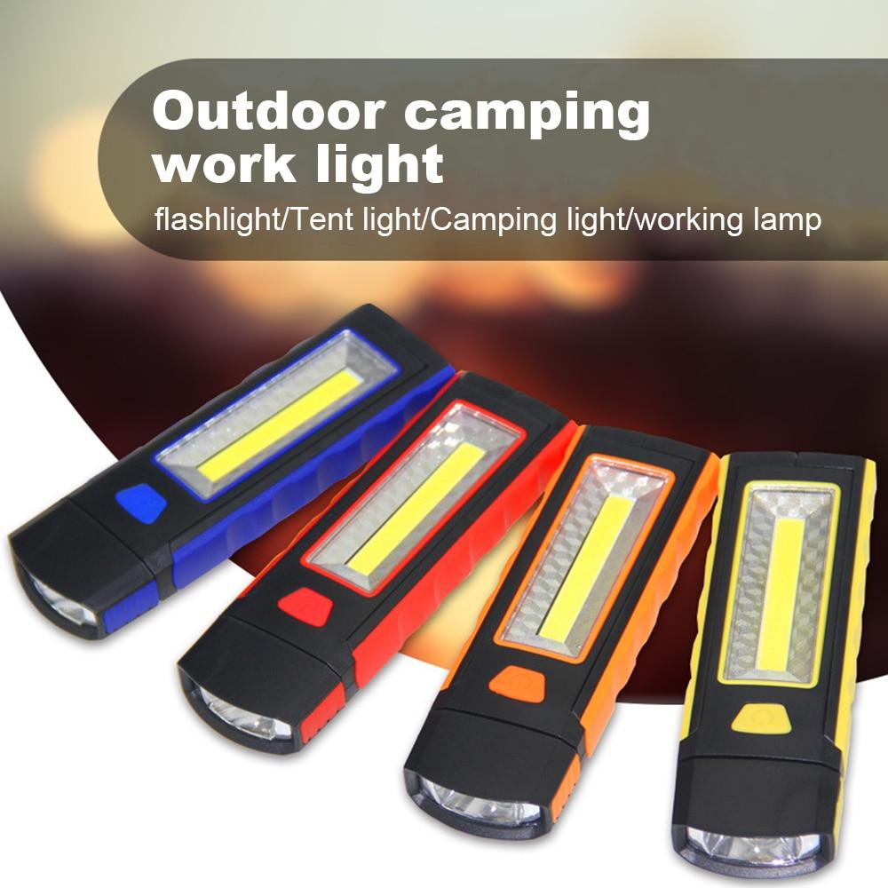 Ao ar livre 1PCS 3W COB Ajustável LEVOU Luz de Trabalho Com Ímã Gancho Inspeção Tocha Da Mão Da Lâmpada Magnética da Barraca de Acampamento lanterna