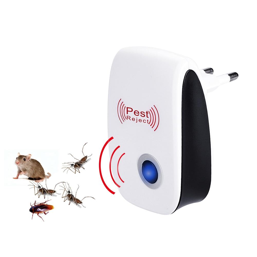 Ultrazvukový odpuzovač škůdců proti hmyzu EU / USA s vnitřním odpuzovačem komárů